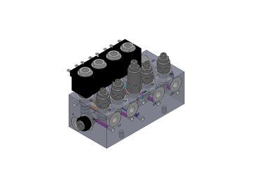 Blocos hidráulicos de alumínio do distribuidor das válvulas para o sistema de caminhão da empilhadeira