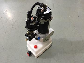 Blocos de energia hidráulica portáteis 12V da montagem horizontal mini com o motor 0.8Kw à prova de fogo